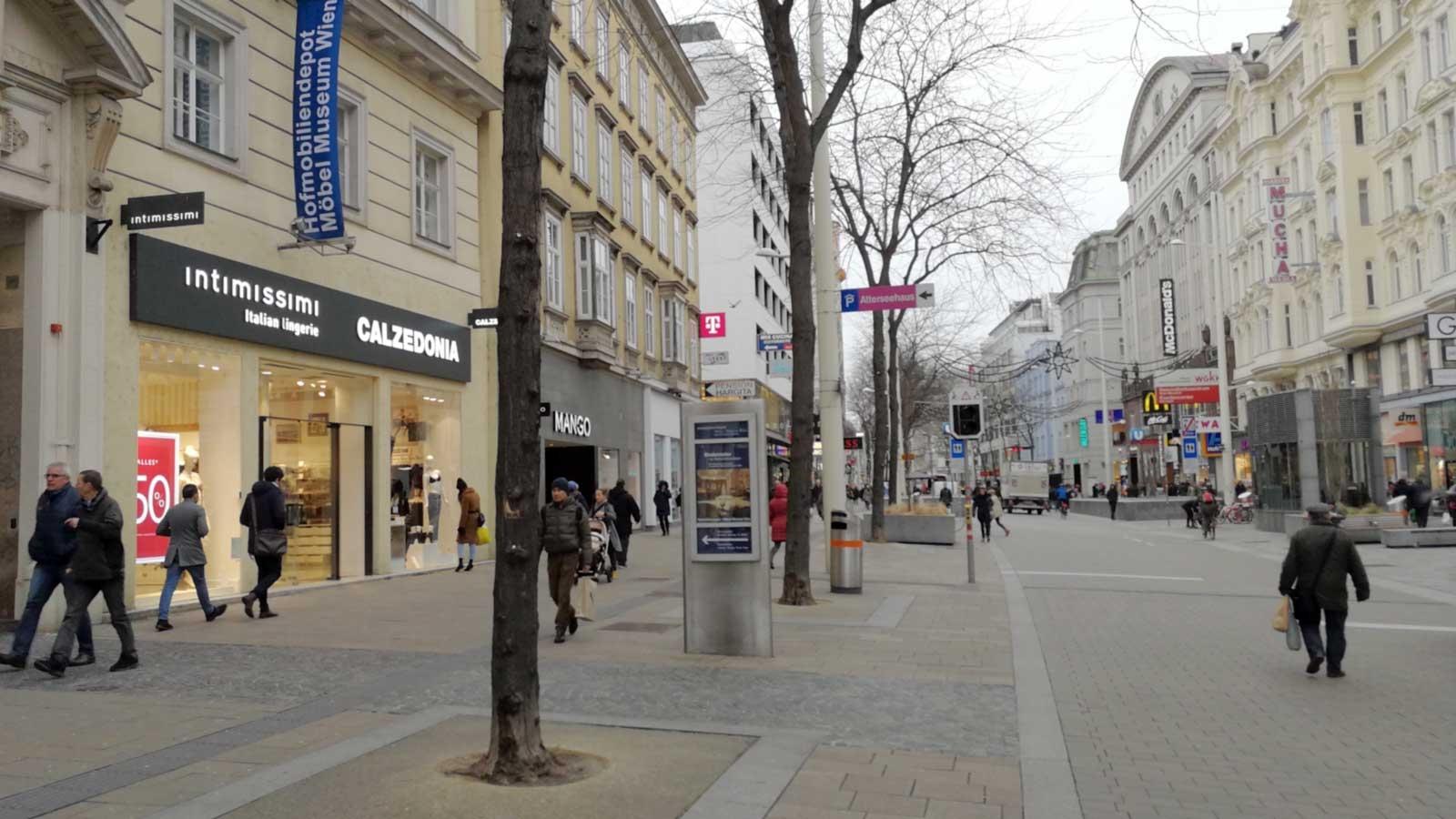 Shopping In Mariahilfer Street Shopping In Vienna
